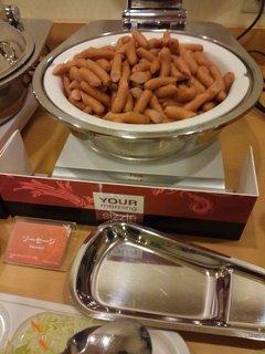 無料朝食(ソーセージ)