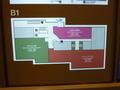 ホテル地下1階の見取り図