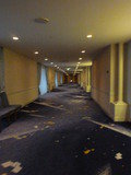本館11階レストランへの長~い廊下