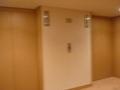 客室階(10階)のエレベーターホール