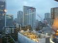 別館12階からの眺望(工事中のビル)