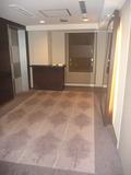 エレベーターホールの床のじゅうたん