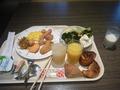 ビュッフェの朝食の一例