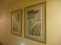 3階(ウエディングフロア)の廊下の壁の絵画