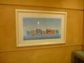 1階自販機コーナーの絵画