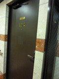 101号室のドア(外側)