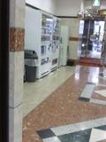 正面入り口近くに自販機コーナー