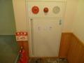 客室階の廊下の消火器と消火栓