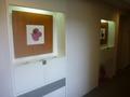 客室階の廊下にはデザイン画が