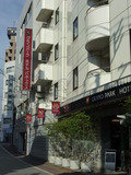 JR蒲田駅から来たときに見える、ホテル外観