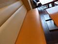 喫茶のベンチシート