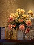 1階カフェに飾られたお花
