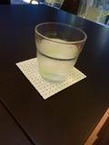 素敵なコースターとグラスで出てきたお水