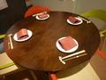 丸テーブルの素敵なテーブルセッティング