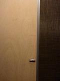 1階の素敵なトイレは、木目調ドアで2室
