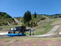 春のスキー場