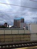 新幹線から見たホテル