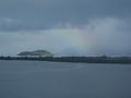竹生島と虹♪