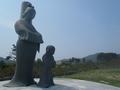 間人皇后 聖徳太子の像