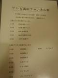 テレビ番組チャンネル表
