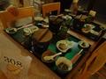 夕食 食堂のテーブル