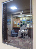 フロント前 鏡