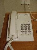 白いプッシュ式電話