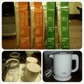 お茶 粉末2種  ポット