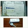 宿泊カード 部屋の鍵