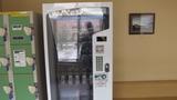 フロントの隣には自動販売機