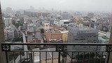 ホテルから京橋駅方面を見る