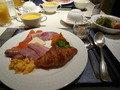 洋食レストランでの朝食