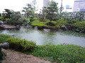 和食レストランから眺める日本庭園