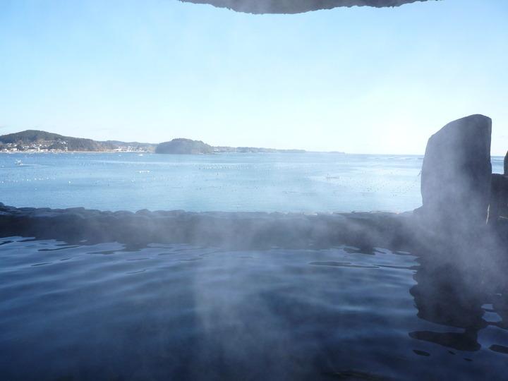なんといっても海と一体となっているこの露天風呂からの景色は最高です