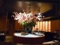 お花のある鉄板焼きレストラン