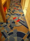 ドナルドダックルームのカーペット