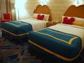 ドナルドダックルームのベッド