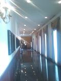 宴会場とつなぐ廊下