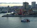 お部屋から港の景色を楽しめました