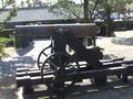 仙厳園にある維新のころの大砲のレプリカ