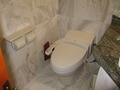 温水トイレ。