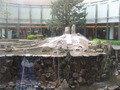 中庭の噴水です。