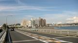 江ノ島方面から見たホテル。