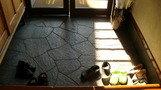 石畳の玄関。