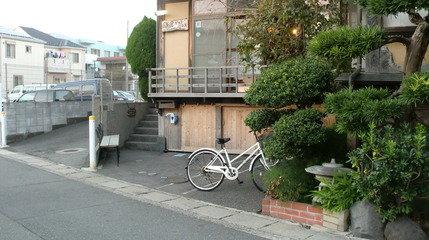 レンタル自転車。