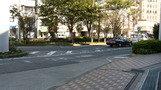 ホテル前道路。