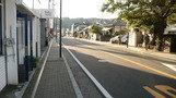 民宿前の道路。