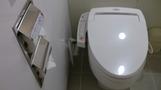 トイレはピカピカ。