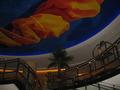 有名なロビーの天井。