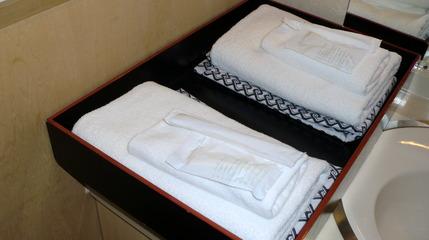 浴衣とタオル。